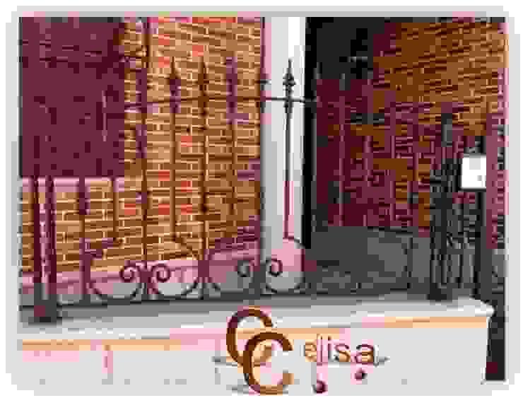 Valla de Forja Puertas y ventanas de estilo clásico de Cerrajeria cejisa Clásico