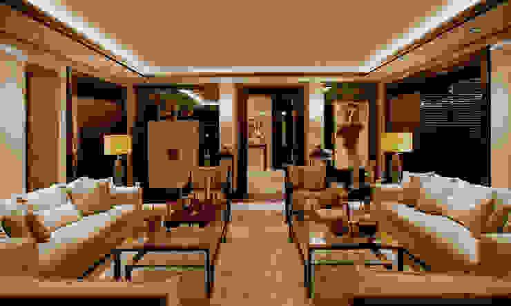 Ruang Keluarga Modern Oleh Kerim Çarmıklı İç Mimarlık Modern
