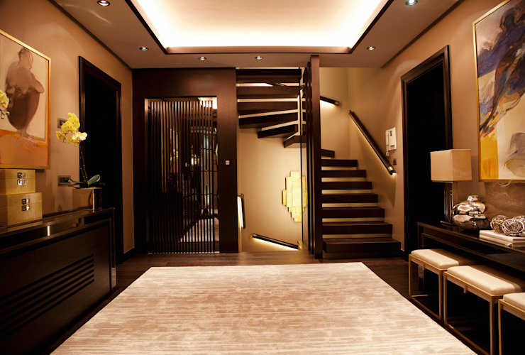 D.M.U. ARNAVUTKÖY EVİ II Modern Koridor, Hol & Merdivenler Kerim Çarmıklı İç Mimarlık Modern