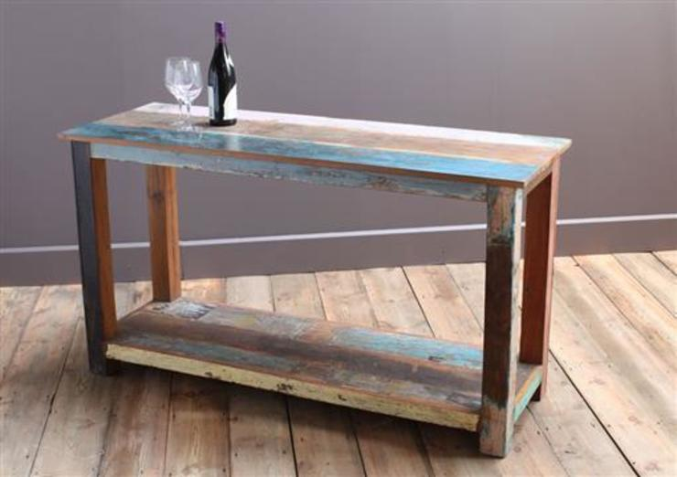 Up-Cycled Wooden Kitchen Island Unit: rustic  by Vintage Archive, Rustic