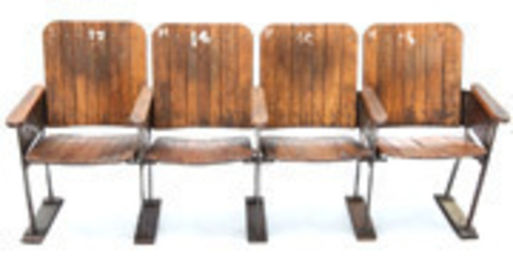 Vintage Cinema Seats: industrial  by Vintage Archive, Industrial