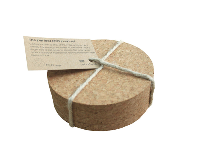 Eco Cork Coasters (set of 4) Oleh ashortwalk Klasik