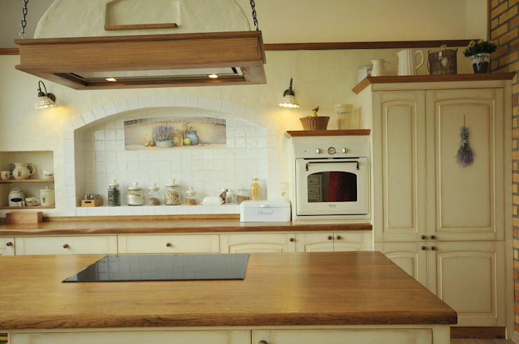 Wnęki w kuchni Wiejska kuchnia od 'Rustykalnia' Sztuka Wnętrza Wiejski