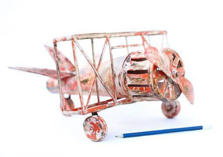 Tin Toy Bi-plane Aeroplane: eclectic  by Vintage Archive, Eclectic