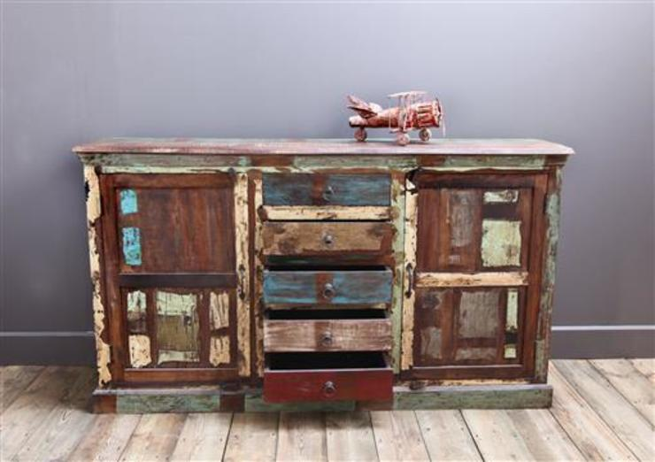 Recycled Teak Kitchen Cupboard van Vintage Archive Rustiek & Brocante