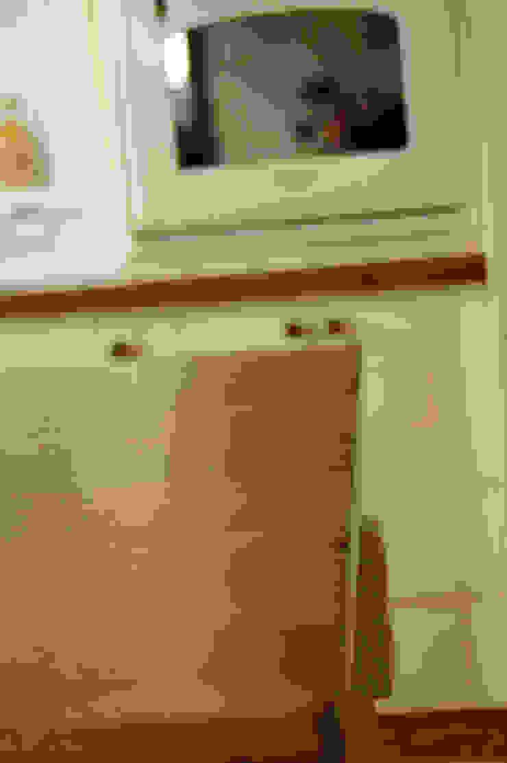 Blat kuchenny dębowy Rustykalna kuchnia od 'Rustykalnia' Sztuka Wnętrza Rustykalny