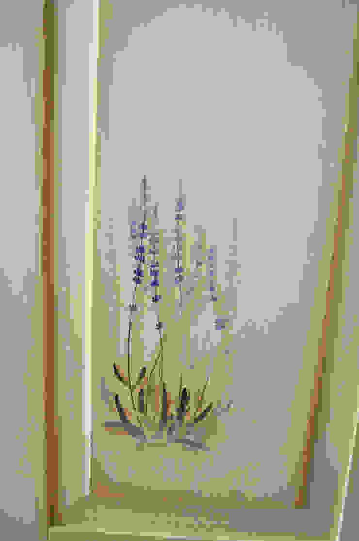 Fronty kuchenne ręcznie malowane. Rustykalna kuchnia od 'Rustykalnia' Sztuka Wnętrza Rustykalny