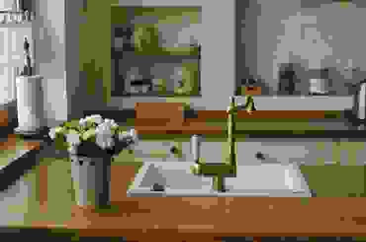 Drewniany blat Rustykalna kuchnia od 'Rustykalnia' Sztuka Wnętrza Rustykalny