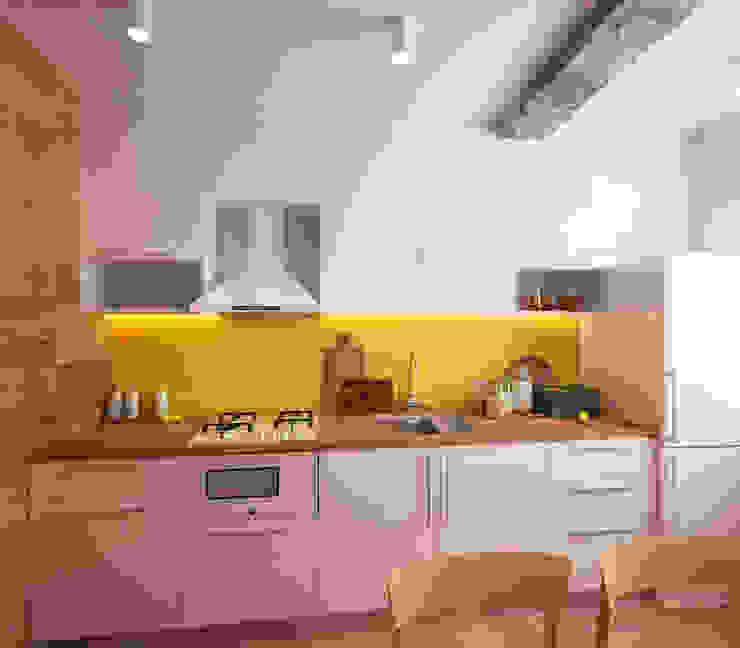 KEFIR HOME Коридор, прихожая и лестница в стиле минимализм от IK-architects Минимализм