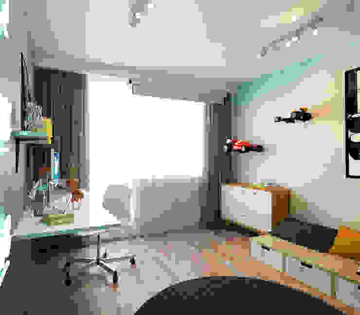 Salas de estilo minimalista de IK-architects Minimalista