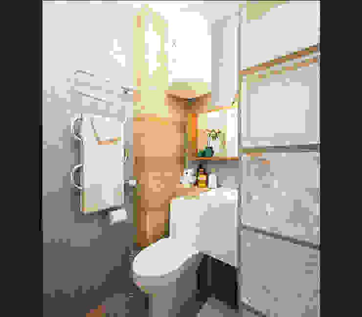 KEFIR HOME Ванная комната в стиле минимализм от IK-architects Минимализм