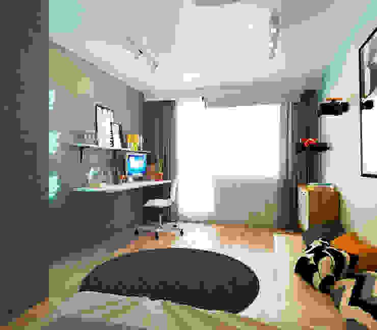 KEFIR HOME Гостиная в стиле минимализм от IK-architects Минимализм