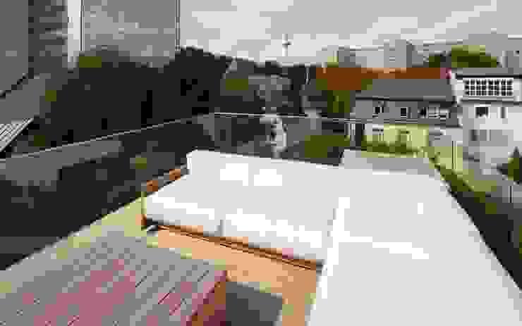 Modern Balkon, Veranda & Teras Schmidt Holzinger Innenarchitekten Modern