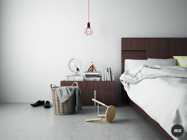 Industrial style bedroom by 3M LAB Industrial