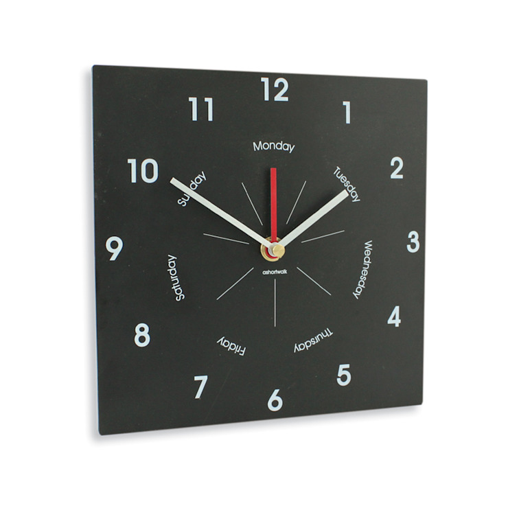 Eco Day & Time Clock: classic  by ashortwalk, Classic