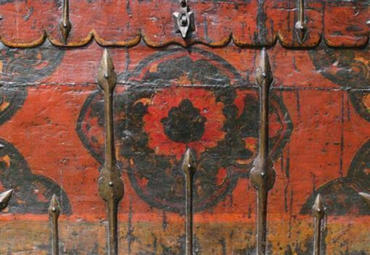 19th Century Tibetan Monastery Chest: asian  by Vintage Archive, Asian