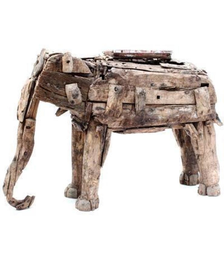 Antique Wooden Elephant: asian  by Vintage Archive, Asian
