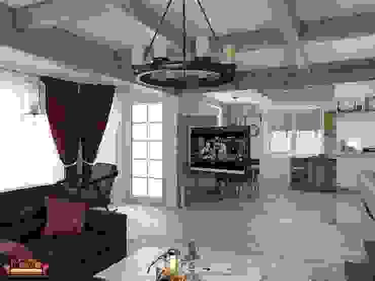 Дизайн проект гостиной в загародном доме Гостиная в стиле кантри от MoRo Кантри