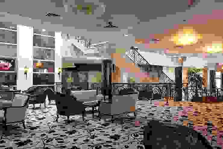 Лобби отеля Гостиницы в эклектичном стиле от ELENA RUMYANTSEVA Эклектичный