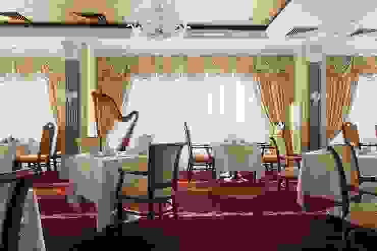 Ресторан отеля Гостиницы в эклектичном стиле от ELENA RUMYANTSEVA Эклектичный
