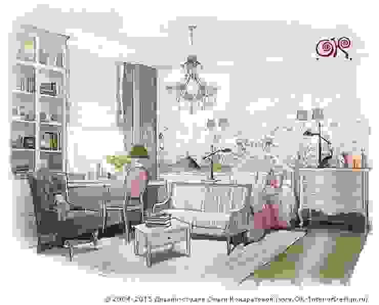 Интерьер детской подойдет для близнецов или сестер близкого возраста Olga's Studio Детская комнатa в классическом стиле