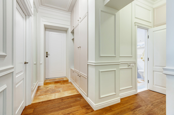 Яркий, сложный, всеми любимый Ход Конем Коридор, прихожая и лестница в эклектичном стиле от U-Style design studio Эклектичный