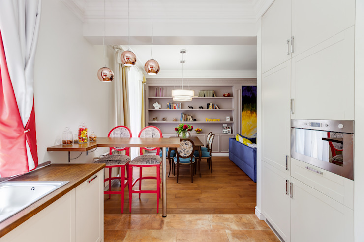 Яркий, сложный, всеми любимый Ход Конем Кухни в эклектичном стиле от U-Style design studio Эклектичный