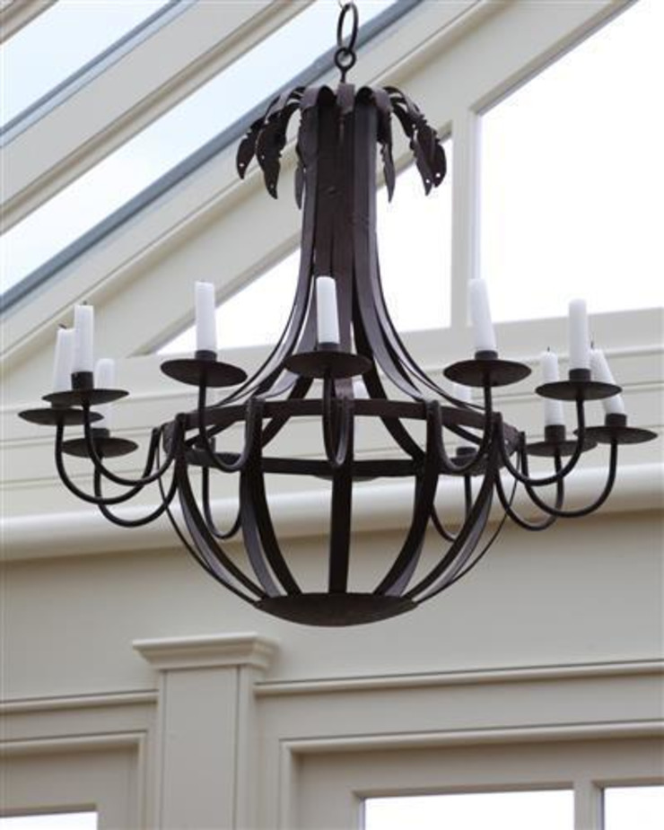 Candle Chandelier : rustic  by Vintage Archive, Rustic