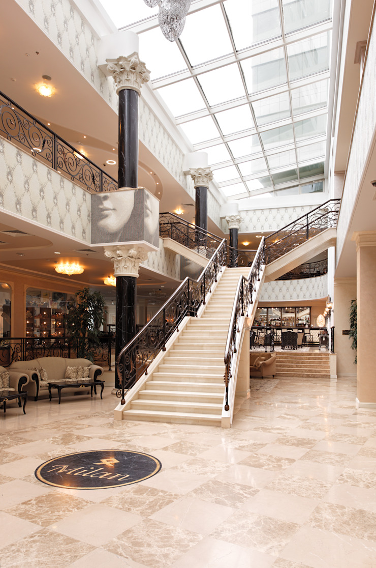 Лестница отеля Гостиницы в эклектичном стиле от ELENA RUMYANTSEVA Эклектичный