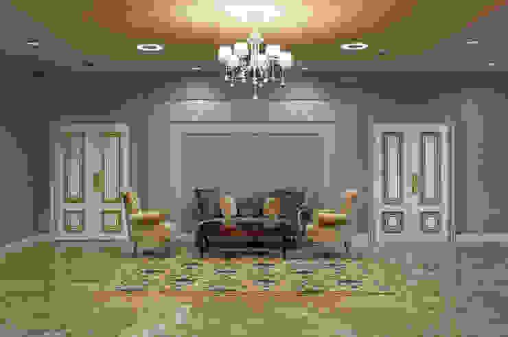 Холл 2 этажа Гостиницы в эклектичном стиле от ELENA RUMYANTSEVA Эклектичный