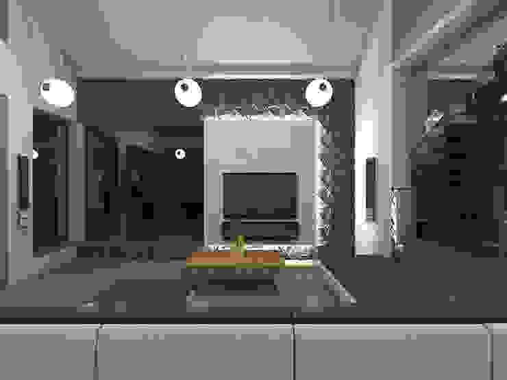 Wnętrze domu w Szałszy Nowoczesny salon od STRUKTURA Łukasz Lewandowski Nowoczesny