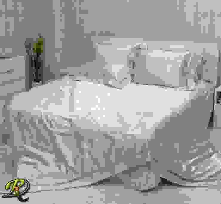 Cream Tiara Cotton Sateen Jacquard & Lace: modern  by Roxyma Dream UK, Modern