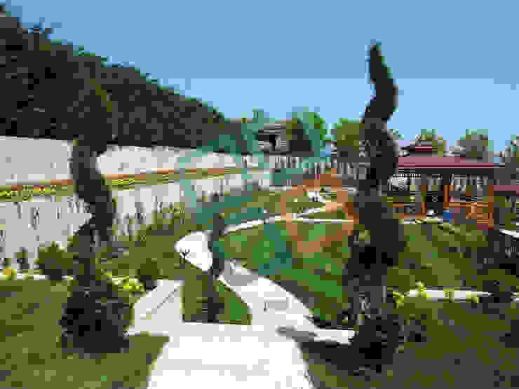 GNC Ahşap Tasarım Orman Ürn. Mimarlık ve Peyzaj San. Tic Ltd. Şti. – Peyzaj Uygulaması:  tarz Bahçe,