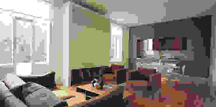 Little Venice Apartment 2 Minimalist living room by Jonathan Clark Architects Minimalist