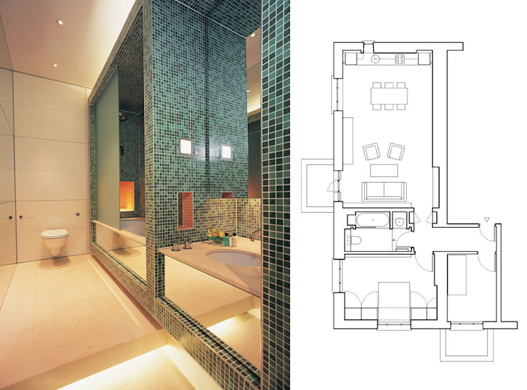 Little Venice Apartment - 1 Minimalist bathroom by Jonathan Clark Architects Minimalist