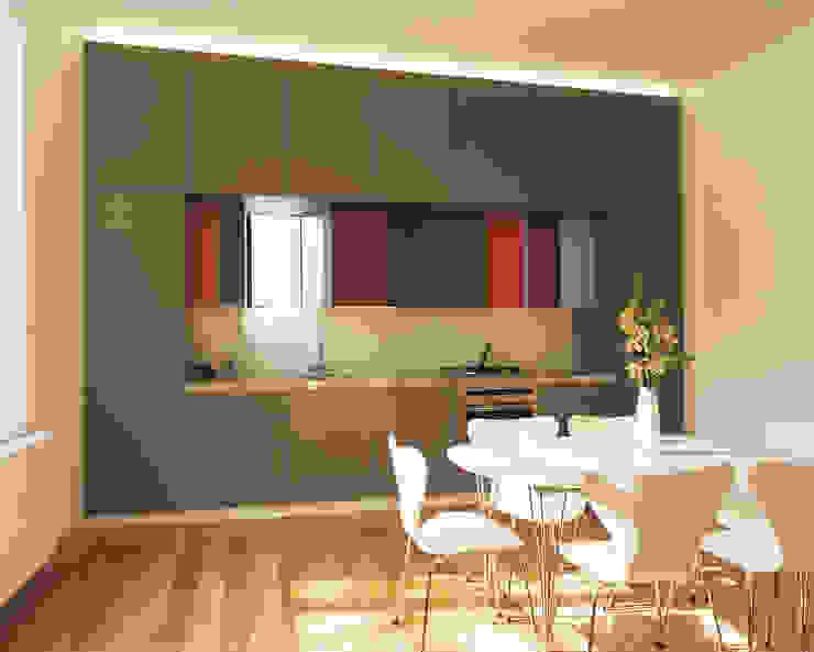 Little Venice Apartment 3 Minimalist kitchen by Jonathan Clark Architects Minimalist