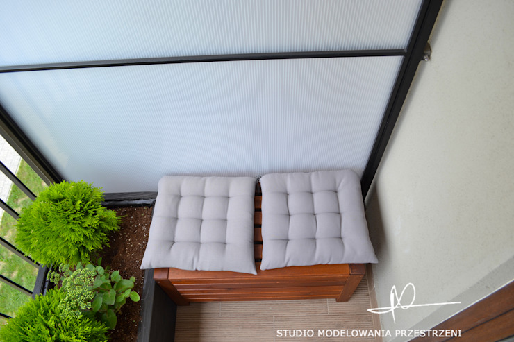 Balcones y terrazas de estilo moderno de Studio Modelowania Przestrzeni Moderno