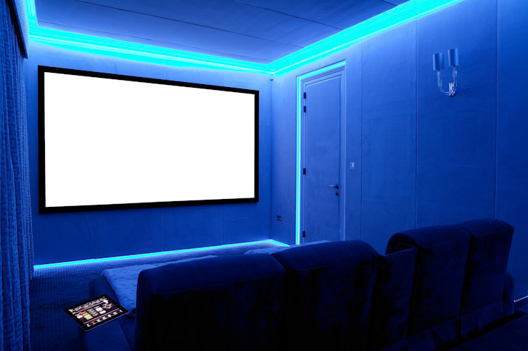 Bespoke Home Cinema Eclectic style media room by Prestigeaudio - Smart Home Designers Eclectic