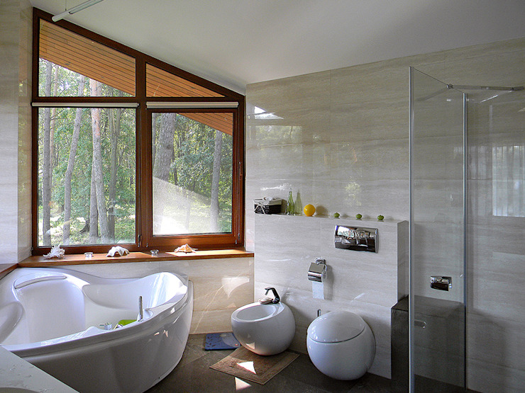 ДОМ НА БЕРЕГУ «ECOHOUSE» Ванная комната в стиле минимализм от citek Минимализм