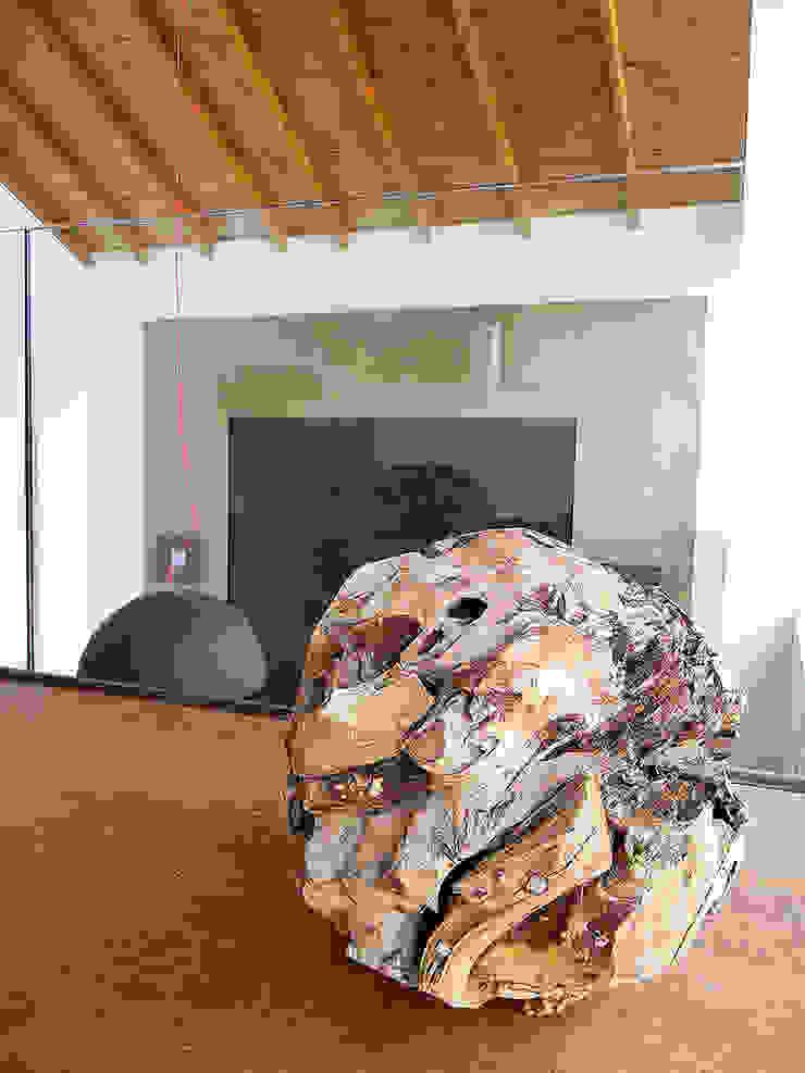 ДОМ НА БЕРЕГУ «ECOHOUSE» Коридор, прихожая и лестница в стиле минимализм от citek Минимализм