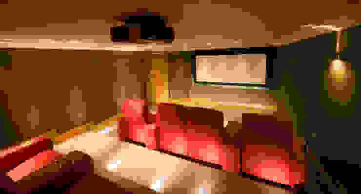 Cinema Room Modern media room by Prestigeaudio - Smart Home Designers Modern