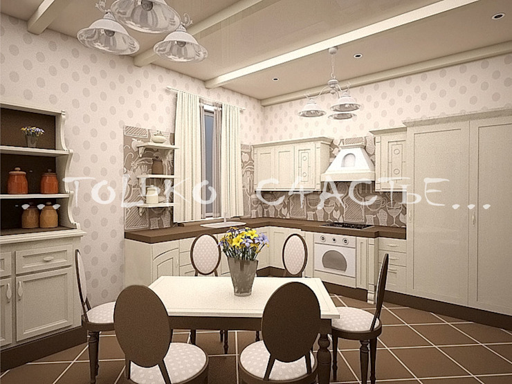 Country style kitchen by Бюро дизайна 'Только счастье...' Country