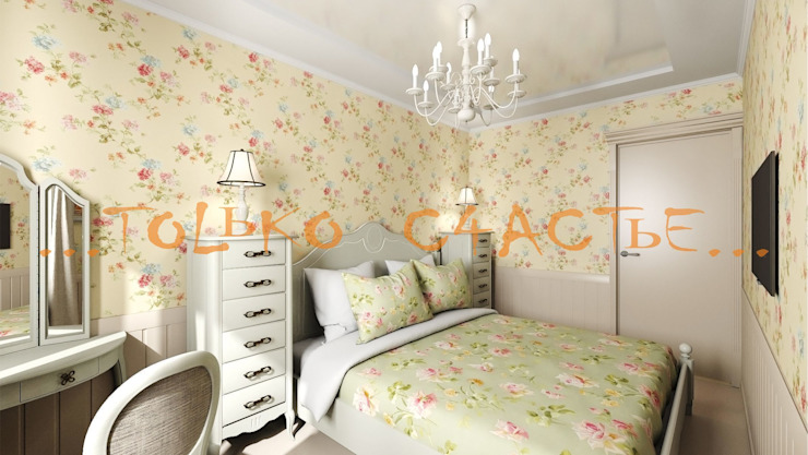 дизайн интерьера Бюро дизайна 'Только счастье...' Спальня в эклектичном стиле