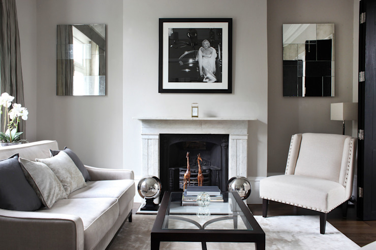 Fulham House by Peek Architecture. Modern living room by Alex Maguire Photography Modern