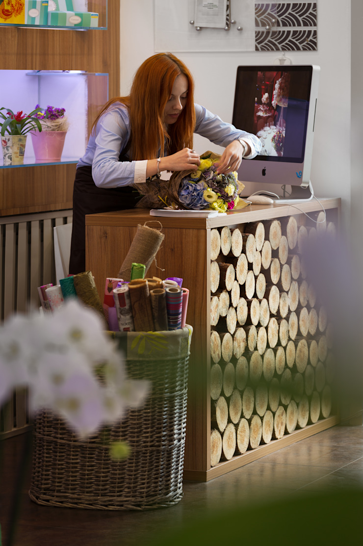 Цветочный бутик Офисы и магазины в стиле модерн от U-Style design studio Модерн