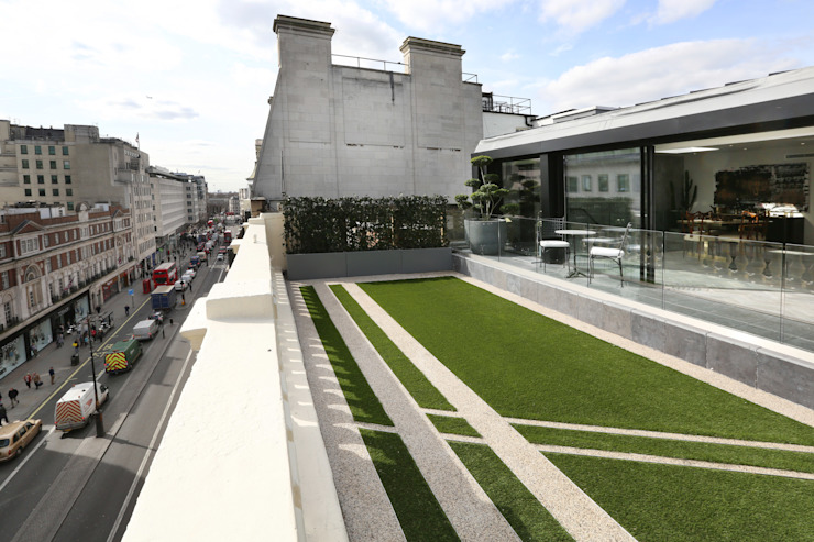 Luxury London penthouse Jardins modernos por Alex Maguire Photography Moderno