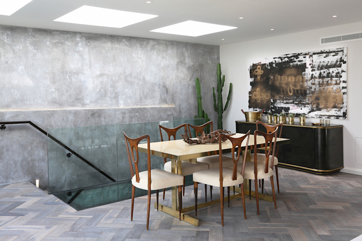 Luxury London penthouse Alex Maguire Photography Modern dining room