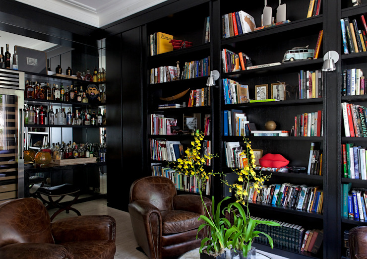 Estudios y oficinas modernos de CSDA Arquitetura e Interiores Moderno