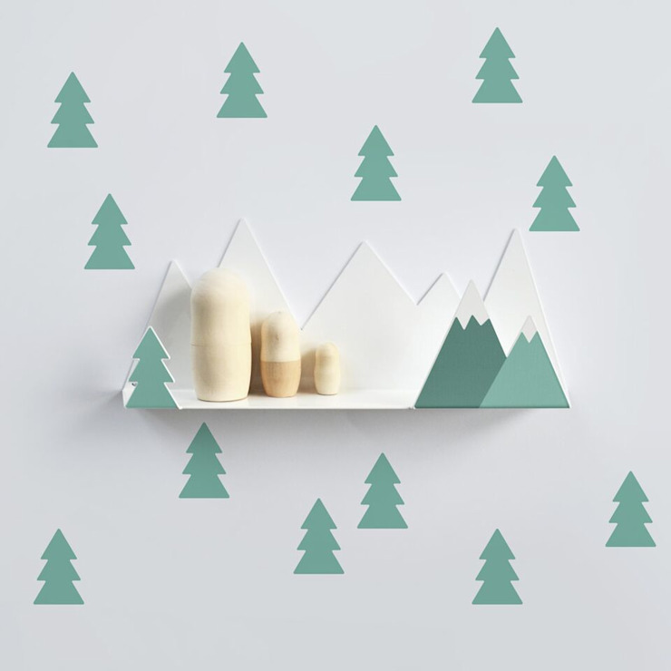 Tresxics Mountain Shelf & Fir Trees - Green de Lullabuy Limited Moderno