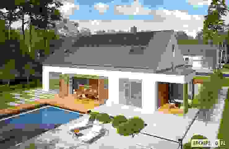 Projekt domu Magnus G2 ENERGO PLUS Nowoczesne domy od Pracownia Projektowa ARCHIPELAG Nowoczesny